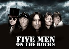 Five Men On The Rocks